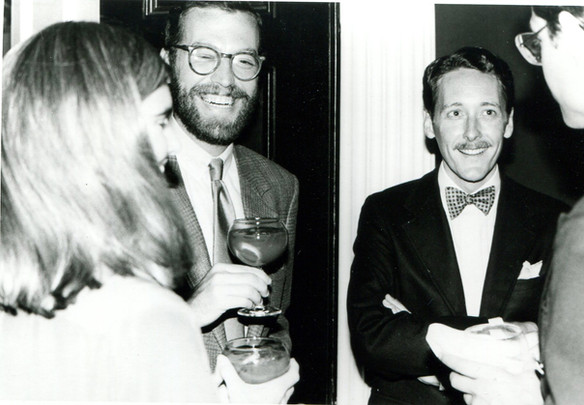 With Alexander Julian, June 1, 1982