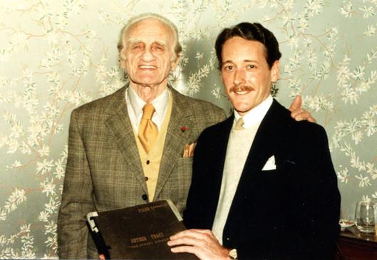 With Arthur Tracy, Jan. 1984