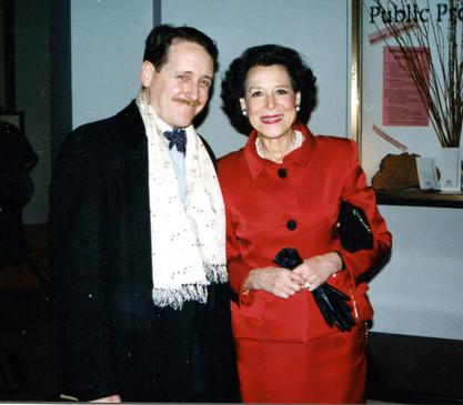 With Kitty Carlisle Hart, 1998?