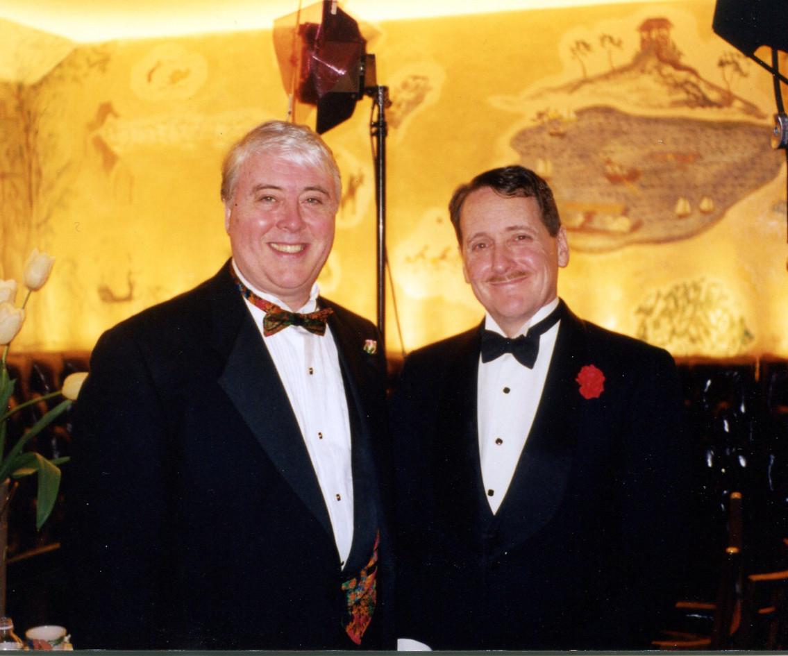 With Robert White, Bemelmans Bar, 1998