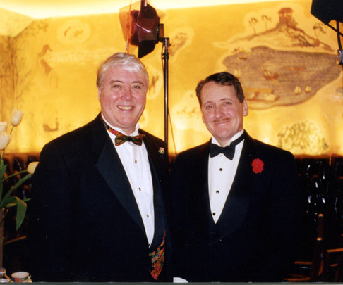 With Robert White, Bemelmans Bar, 1998