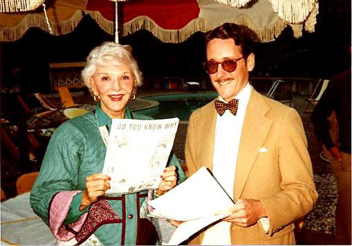 With Mary Martin, 1980