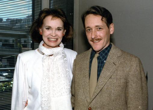 With Gloria Vanderbilt, 1985