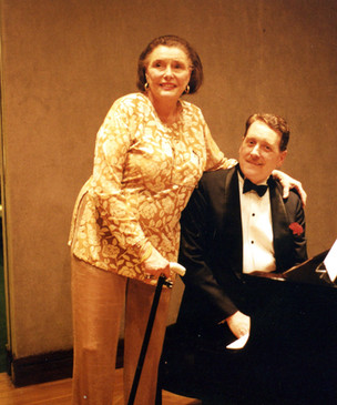 With Patricia Neal, Sotheby's