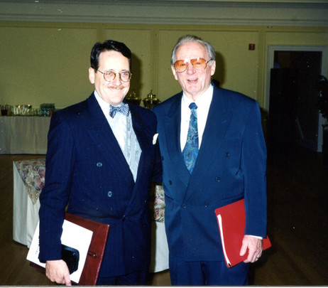 With Max Morath, Library of Congress, 1998