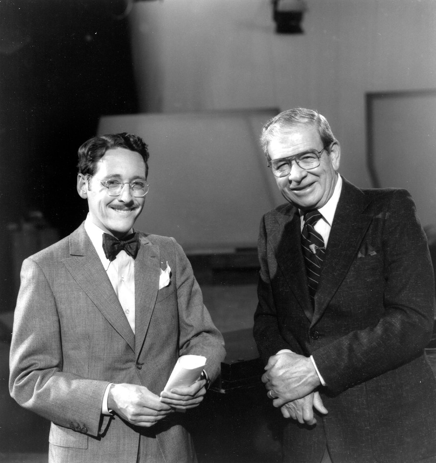 """With Frank Blair, """"Over Easy"""" 1980"""