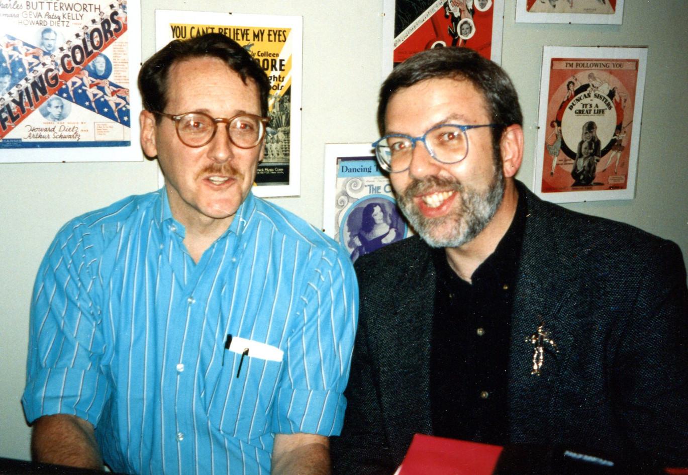 With Leonard Maltin
