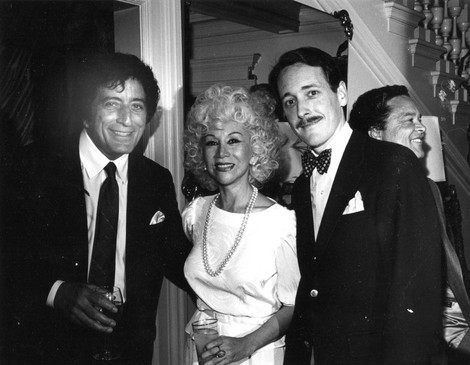 With Tony Bennett & Lee Herbst Gruhn. Photo by Altman