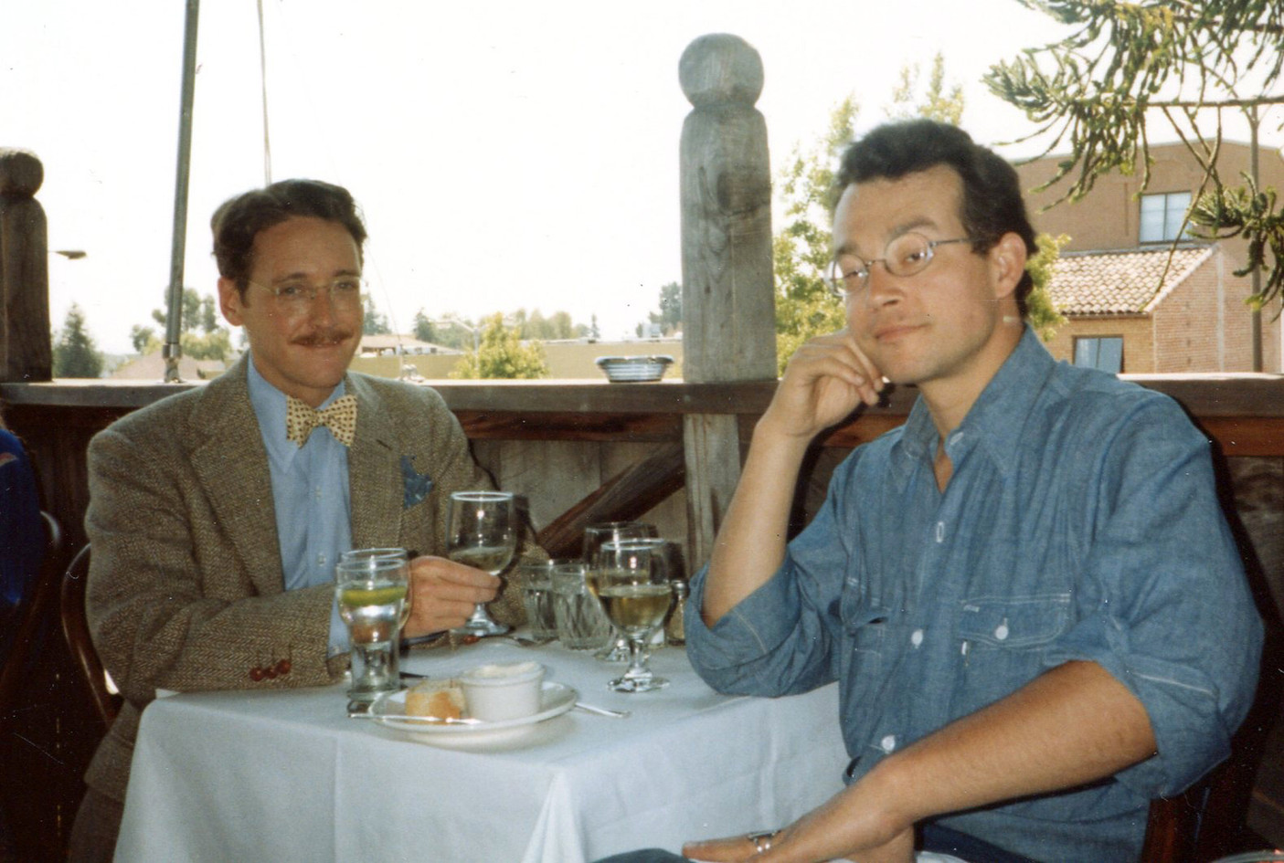With David Lance Goines, Chez Panisse, 1981