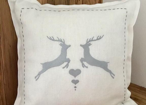 Cuscino lino bianco 40x40