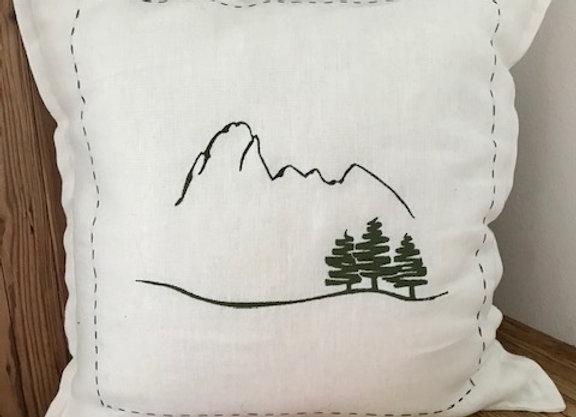 Cuscino lino bianco 50x50