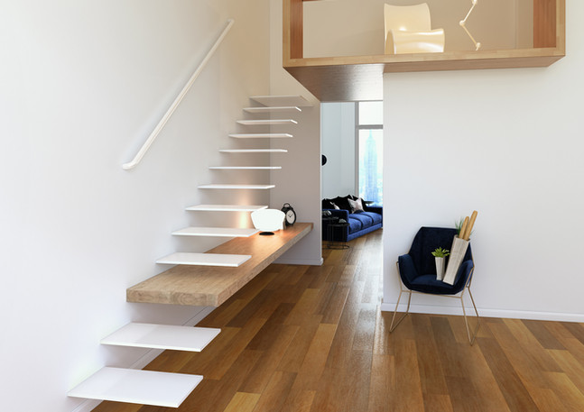Modern Wood&White Studio_ Italy