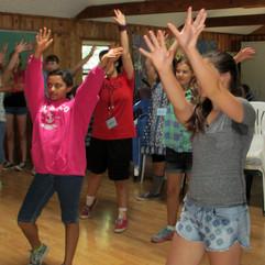 Rehearsing choreography