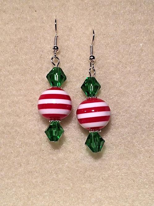 Peppermint Candy Drop Earrings