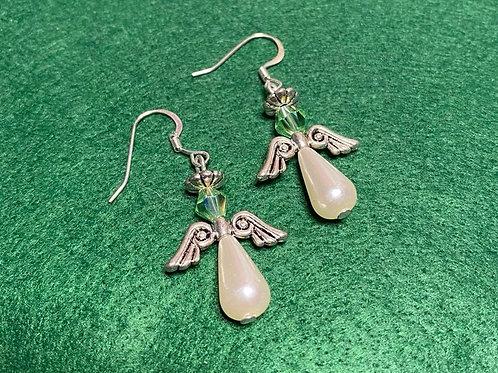 Light Green Angel Earrings