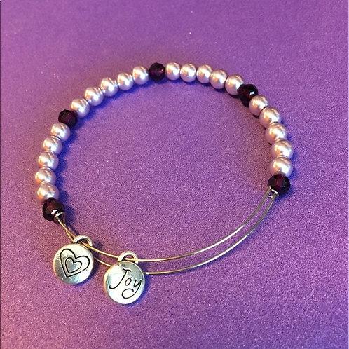 Pink & Purple Adjustable Bracelet