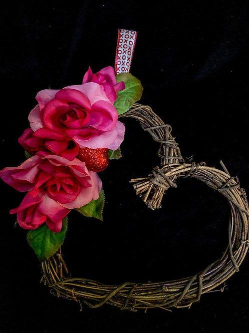 Tilted HeartWreath - 10 inch