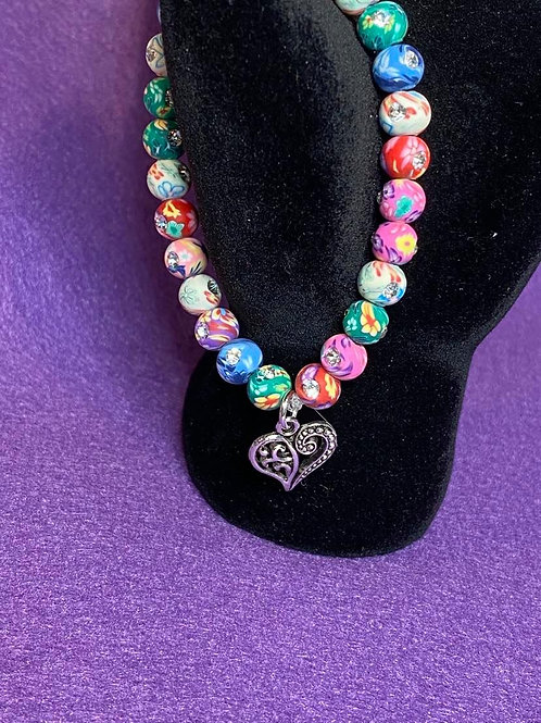 Girl's Pretty Bling Necklace and Bracelet
