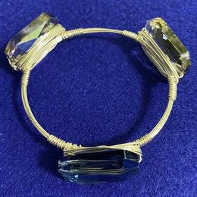 Ocean Waves Chinese Crystal Wrapped Bracelet