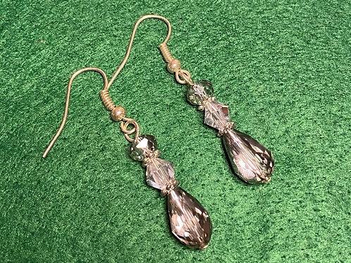 Crystal Silver Drop Earrings