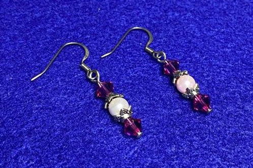 Swarovski Pretty Pink Drop Earrings