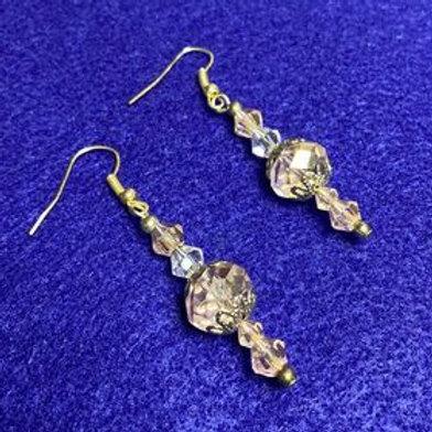 Delicate Pink Flower dangle earrings