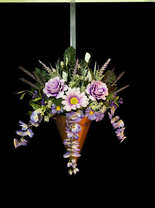 Purple Passion Floral Door Hanging Basket