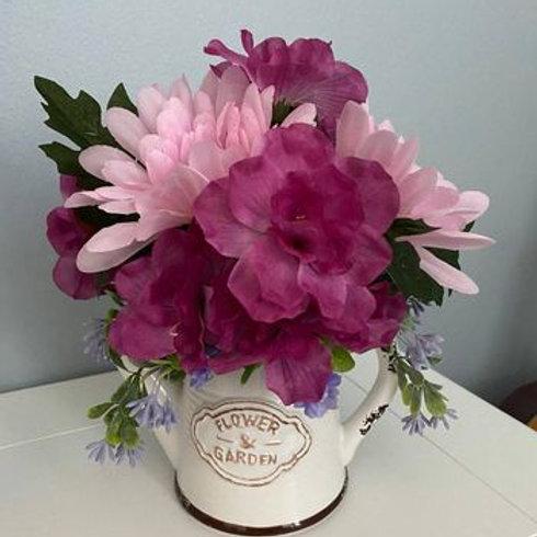 Flower & Garden Farmhouse Watering Can Silk Arrangement