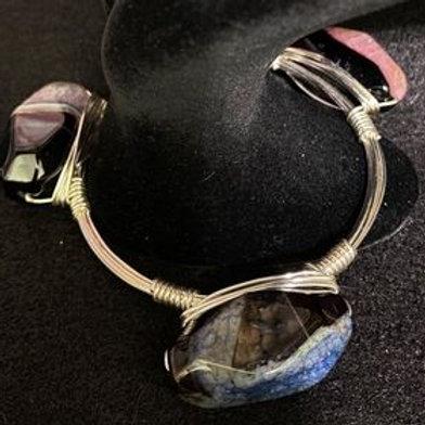 Crystal Beauty Silver Wrapped Bracelet