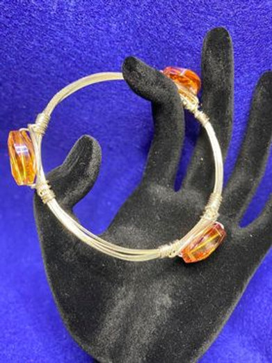 Tangerine Silver Bangle Bracelet