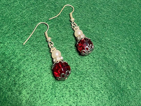 Snow-Topped Cranberry Earrings