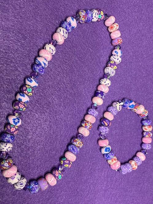 Pretty Girl Necklace and Bracelet Set