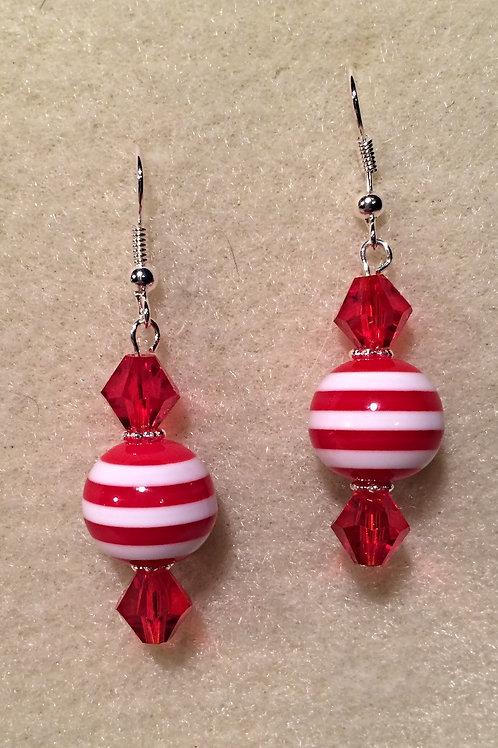 Red Hot Popper - Drop Earrings