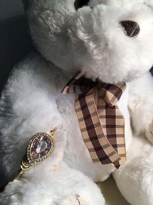Elegant Wrapped Pink Crystal Bracelet