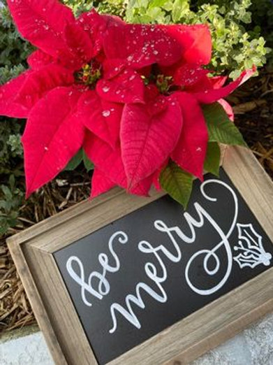 Be Merry Wooden Stand-up Frame