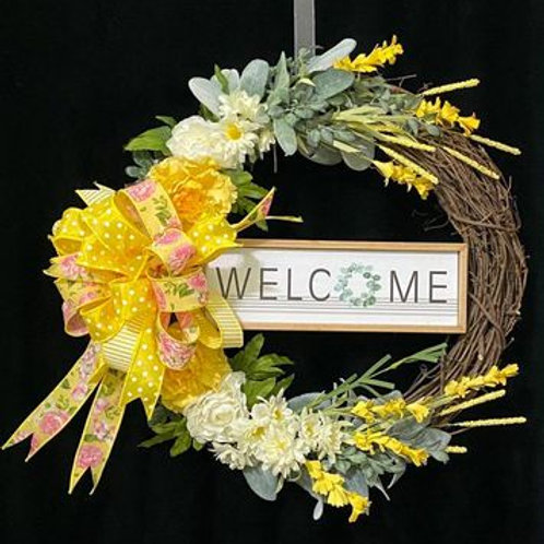 Welcome Grapevine Wreath