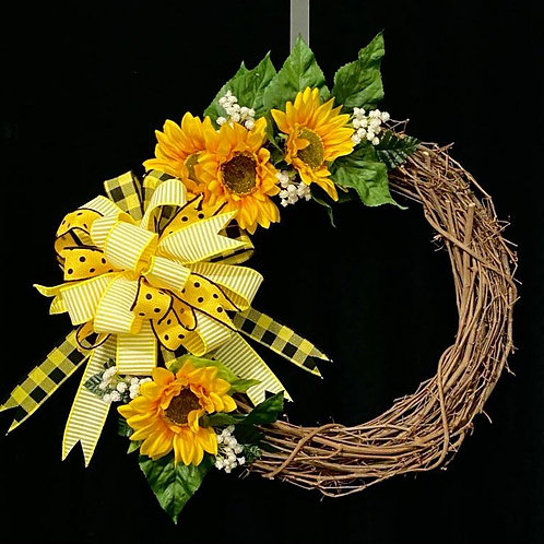 Spectacular Sunflower Grapevine Wreath