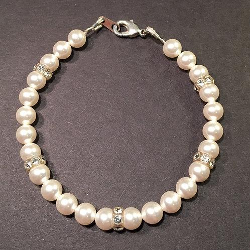 Bracelet - Swarovski Pearl and Crystal Rondelles