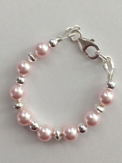 Newborn Swarovski & Sterling Silver Bracelet