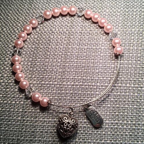 Swarovski Pink Pearl Adjustable Bracelet