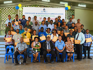 Youth graduates with Certificate Course in Biodiversity Conservation