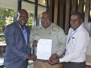 South Bougainville MP Mr. Timothy Masiu supports science and conservation