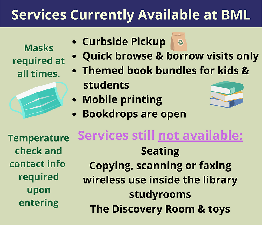 Services available during the pandemic