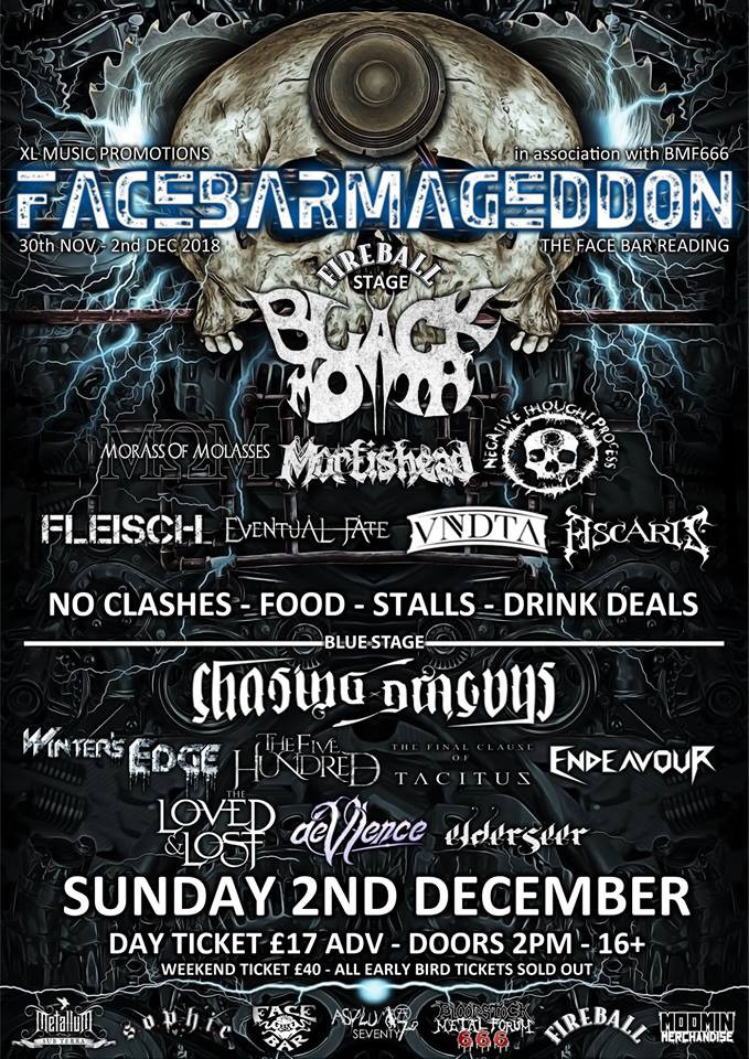 Facebarmageddon 2018 - Suday Line Up
