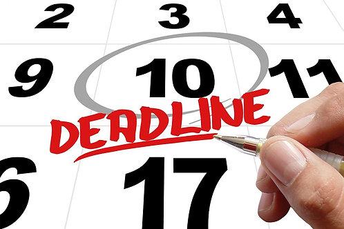 Writer Deadline Tracker