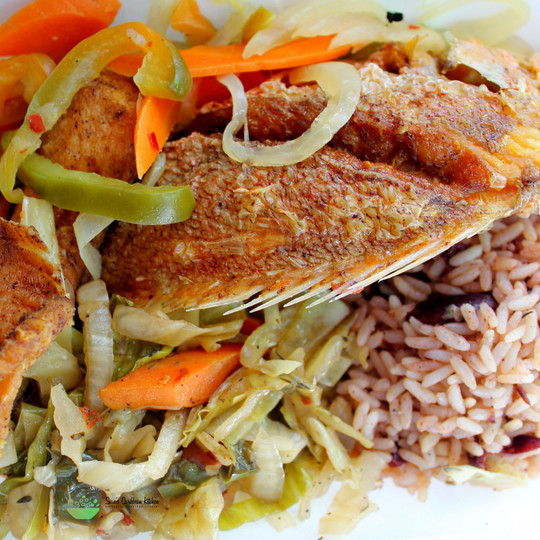 IMG_1710 escovith fish with rice and pea