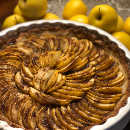 Apple Tarte au Tatin made with a Pate Su