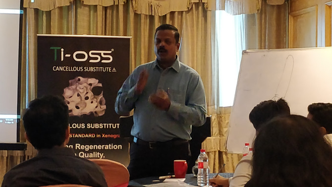 """Ti-oss® """"Implant Surfaces and Bone Grafts: by Choice or by Chance?"""" in India"""