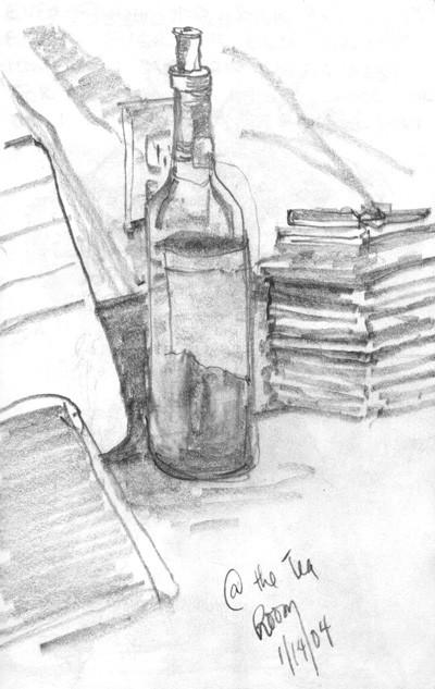 Bottle at the Tea Room