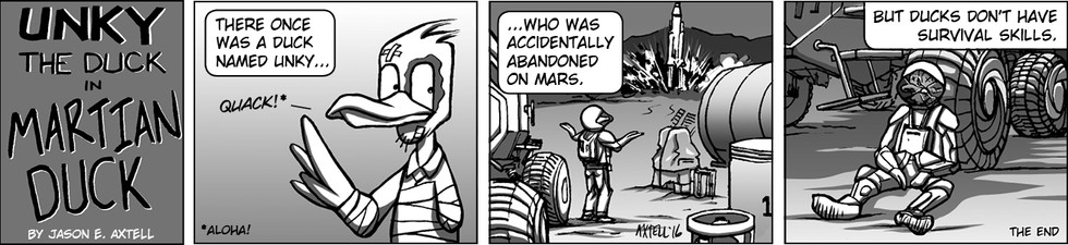 This week, Unky takes an expedition to Mars. Surely, there's no snow sharks there, right?